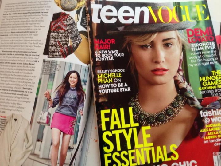 Emilyn Teh in the November 2013 issue of Teen Vogue