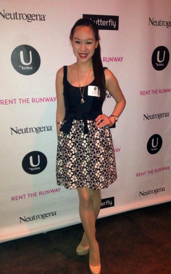 Emilyn at the Rent the Runway captsone weekend
