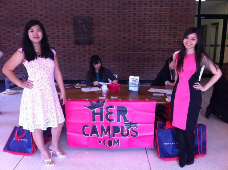 Chelsea an Harper Yi at the Her Campus Mid-Atlantic Inter-Collegiette Conference at the College of William and Mary.