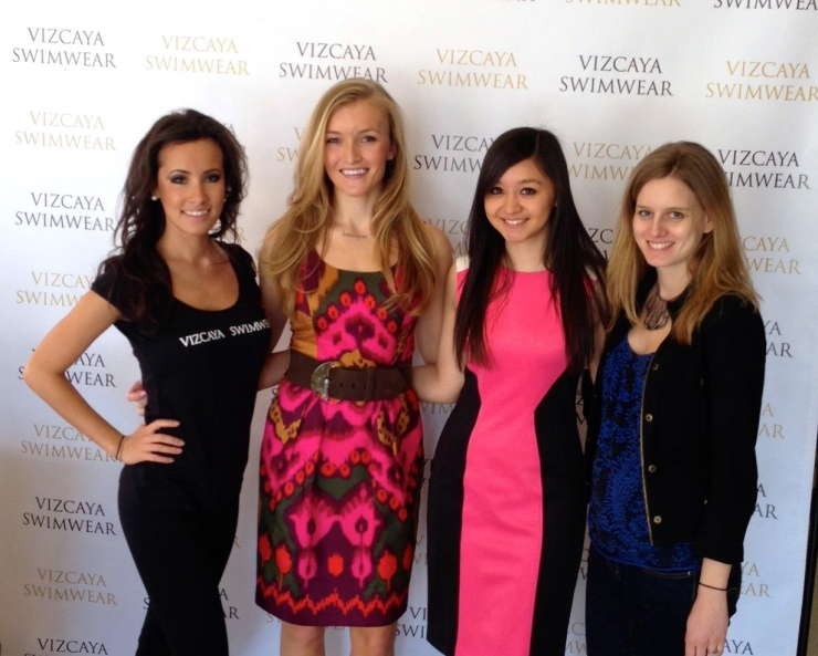 From Left: Lisa Opie, Windsor Hanger, Founder of Her Campus, Chelsea Kubo, Allison Hillhouse, Vice President of MTV Insights