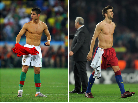 hottest soccer players world cup 2014 pique ronaldo