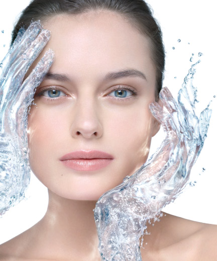 skin treatments with water