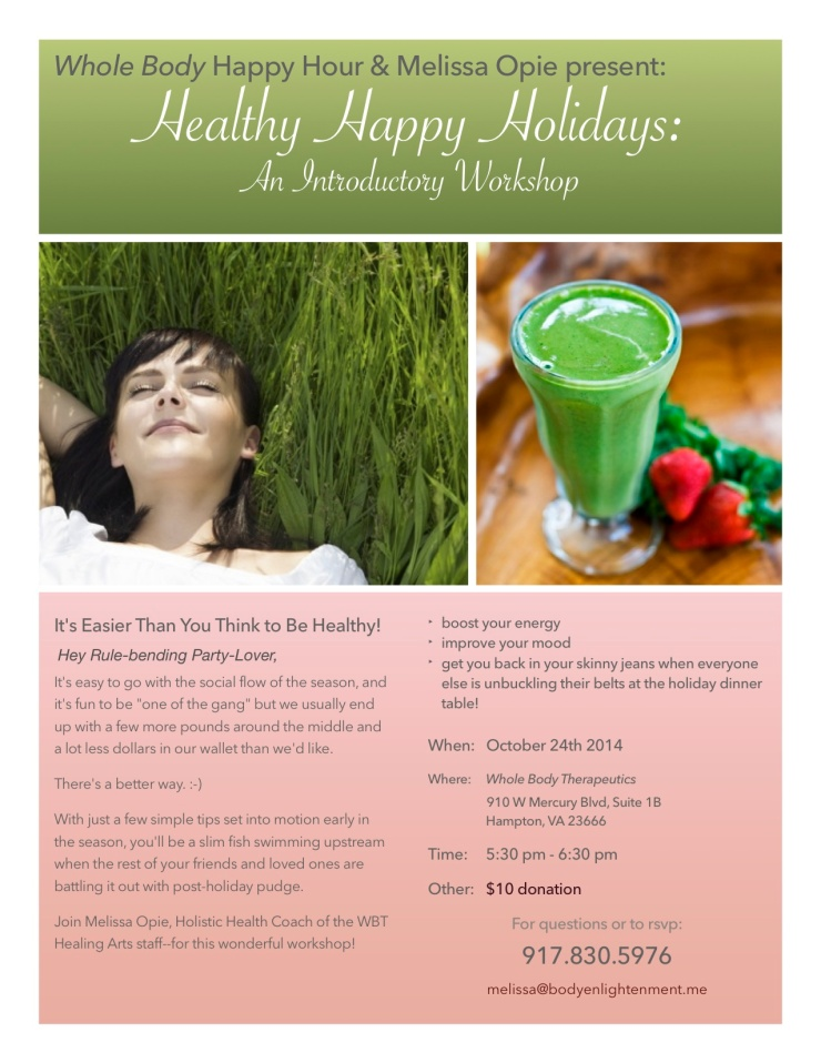 Healthy holidays 1-hour