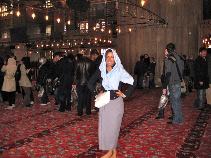 blue mosque women cover up
