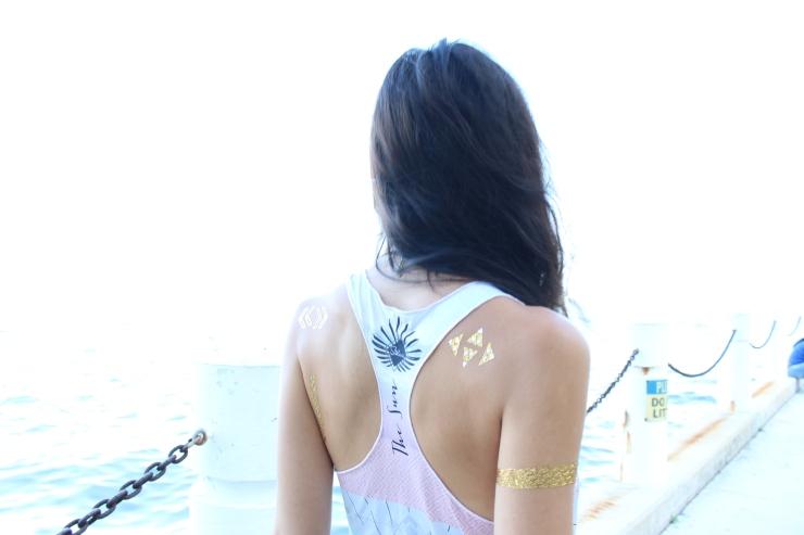 shine tattoos metallic tattoos lady code style