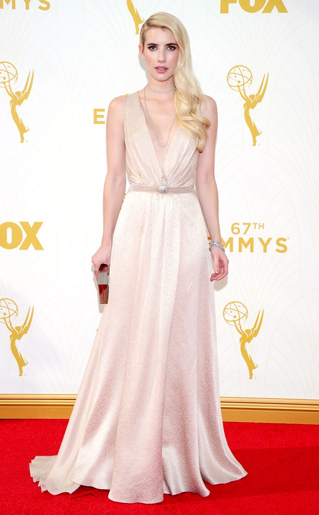 emma roberts 2016 emmy red carpet best dressed