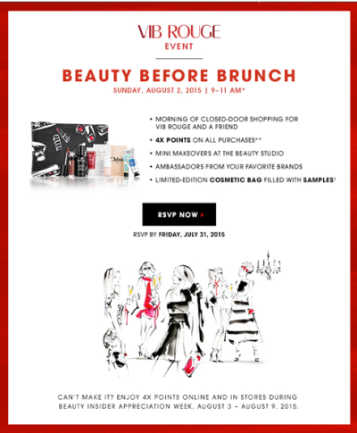 vib rouge beauty before brunch review blog beauty blog sephora