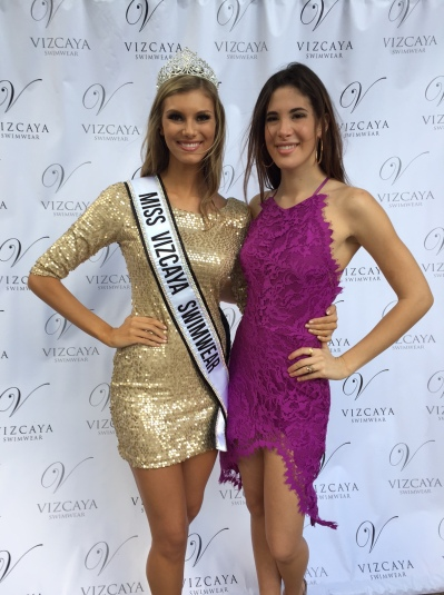 Caitlin Russell and Charlotte Trattner after the crowning.