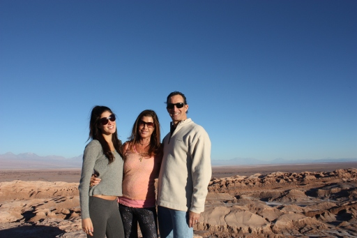 My family and I standing at the top of Villa de La Mertalla