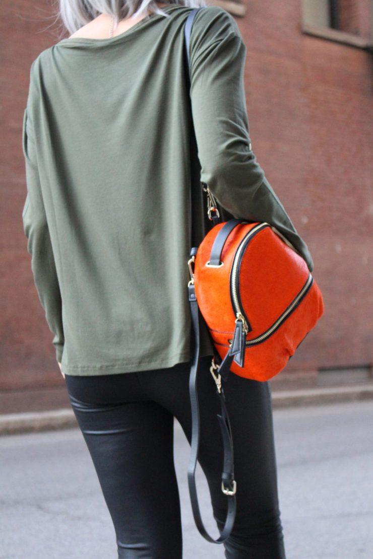 zara-backpack-lisa-opie-orange-street-style-fall-new-york-2017