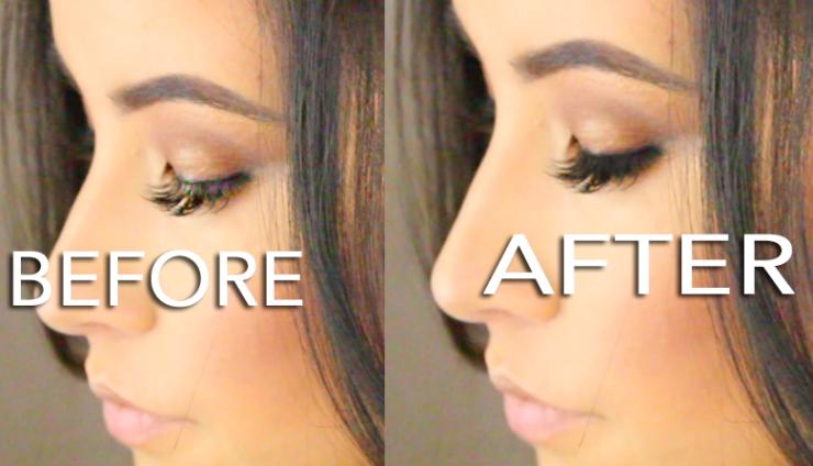 makeup-stuck-on-eyelash-extensions