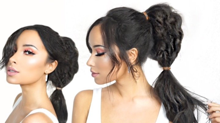 Messy Braided High Ponytail