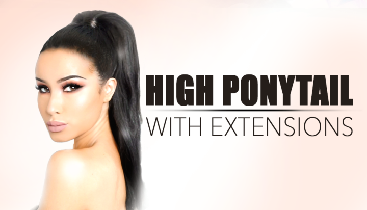 How to Create a Sleek High Ponytail with Volume || Clip In Hair Extensions