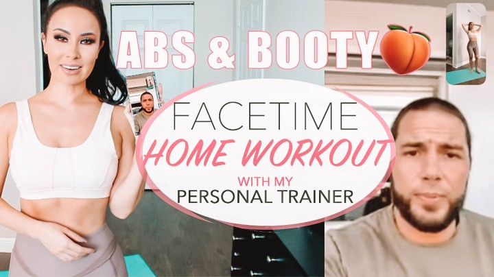 No Equipment Home Abs + Butt Workout feat. My Personal Trainer!